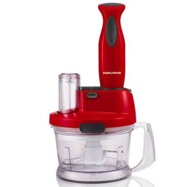 Morphy Richards Accents Hand Blender Work Centre - Red | IWOOT