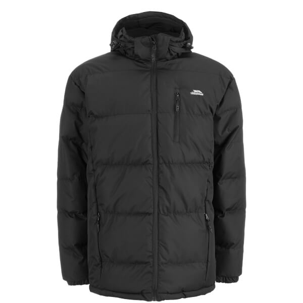 Trespass Men's Clip Waterproof Padded Coat - Black