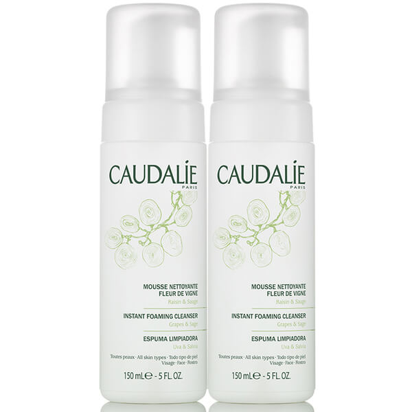 6 Pack - Caudalie Instant Foaming Cleanser Fleur de Vigne 5 oz Aromatherapy Associates Rose Exfoliating Cleanser (100ml)