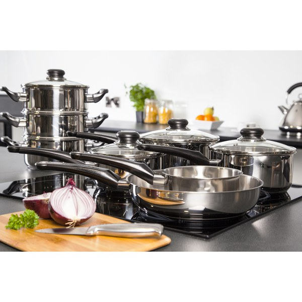 Morphy Richards Kitchen Set: Morphy Richards 970001 8 Piece Pan Set - Stainless Steel