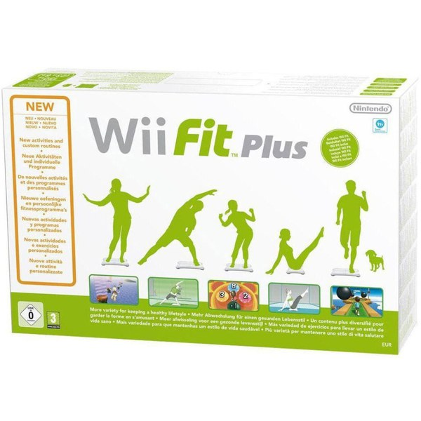 Wii Fit Plus & Wii Balance Board White Bundle