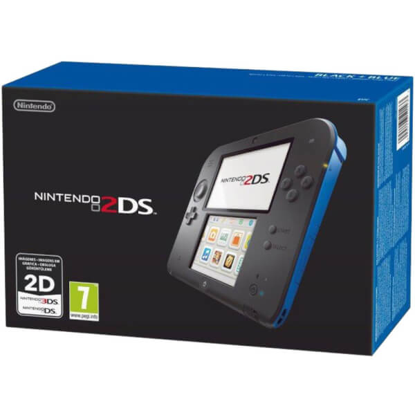 Nintendo 2DS Console (Black + Blue)