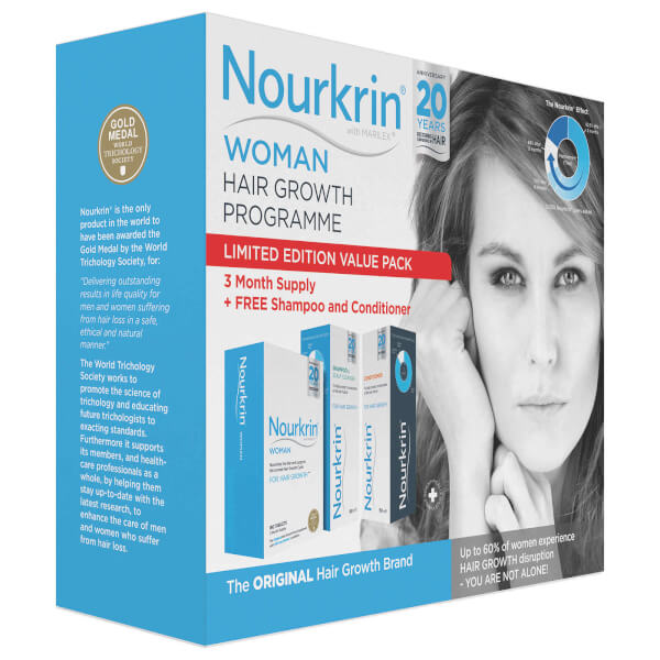 Nourkrin Woman Value Pack - Contains 180 Tablets Plus Shampoo and Conditioner (2x150ml)