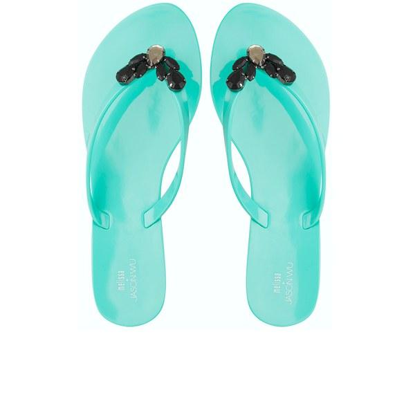 Jason Wu For Melissa Women's Harmonic Crystal Flip Flops - Emerald