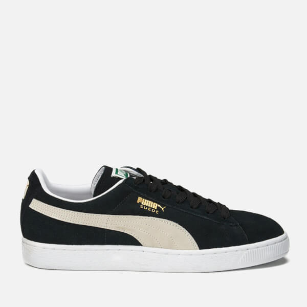 93f87748374 Puma Suede Classic + Trainers - Black White Mens Footwear