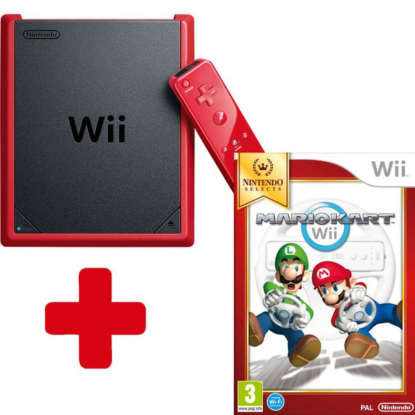 Wii mini Console + Mario Kart Wii