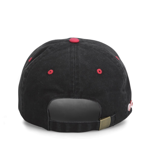 69da2ec2a498f New Balance Unisex Ball Park 6 Panel Baseball Cap - Cotton Twill Black Red