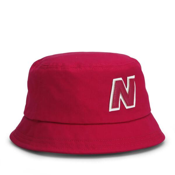 New Balance Unisex Glasto Cotton Bucket Hat - Cotton Twill Red White  Image  2 2ca8bbd0582