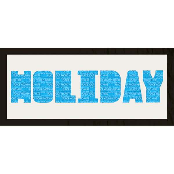 GB Cream Mount Holiday Arial Photo Font - Framed Mount - 12