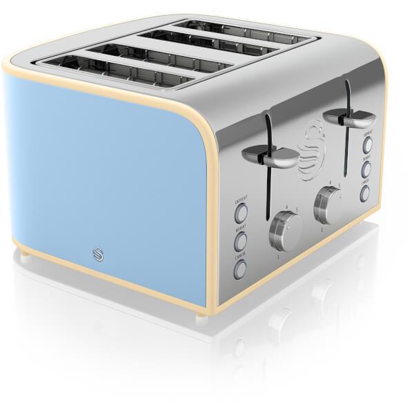 Swan St17010bln 4 Slice Toaster Blue Iwoot