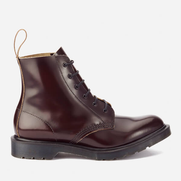 Dr. Martens Men's 'Made in England' Arthur Leather 6-Eye Boots - Merlot Boanil Brush