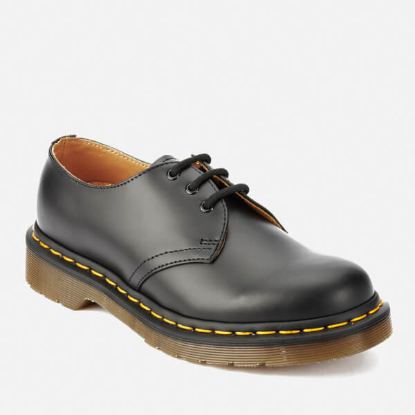 Dr. Martens 1461 Smooth Leather 3-Eye Shoes - Black - Free UK ... 80e94f71c0fc7