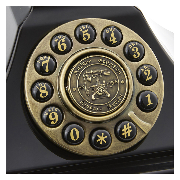 Gpo Retro Duke Telephone With Push Button Dial Black