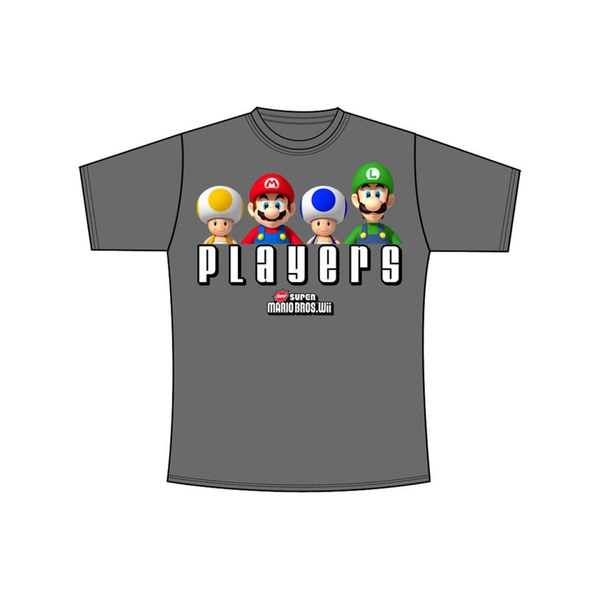 Mario PLAYERS - T-Shirt (Charcoal)
