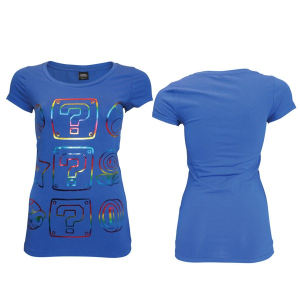 Power Ups - T-Shirt Women's (Blue w/Foilprint)