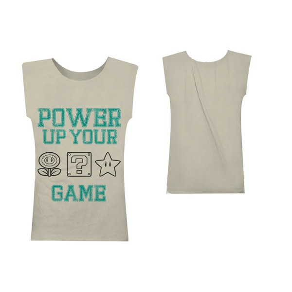 Power Up - T-Shirt Girls' (Beige)