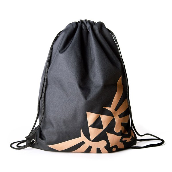 The Legend of Zelda - Gym Bag (Black/Gold)