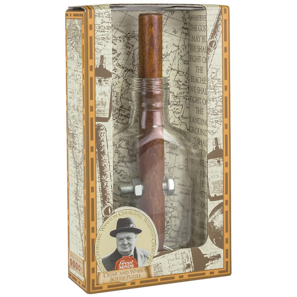Great Minds Churchill's Cigar And Whisky Bottle Puzzle