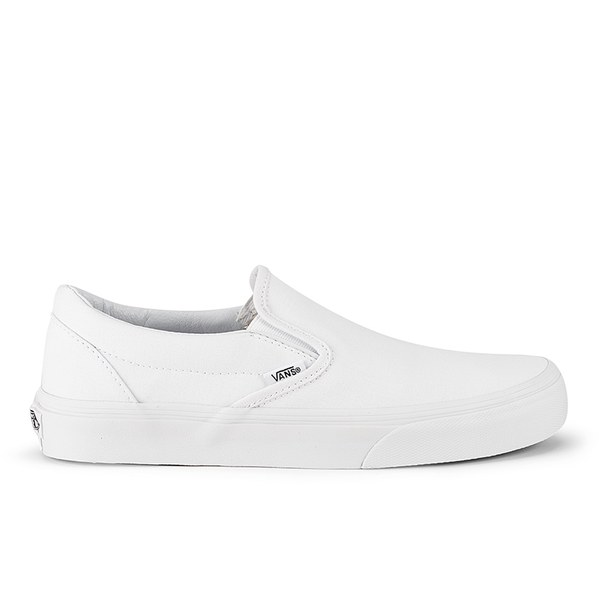 Vans Classic Slip-On Canvas Trainers - True White