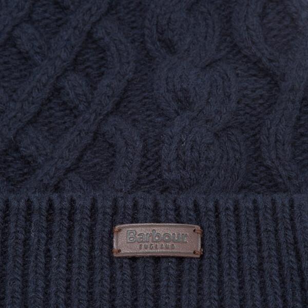 b8de25a4096 Barbour Cable Knit Beanie Hat - Navy  Image 4
