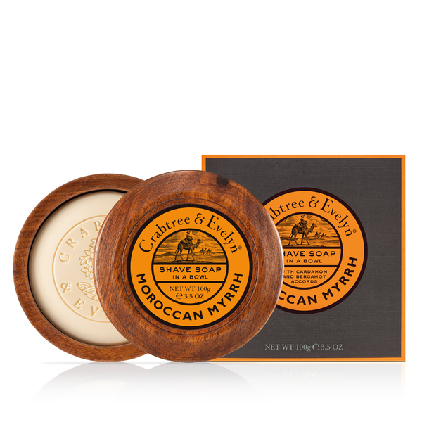 Crabtree & Evelyn Moroccan Myrrh Shave Soap in Bowl (100g)