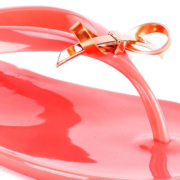 6fd3c3f9c05776 Ted Baker Women s Heebei Jelly Flip Flops - Orange  Image 4