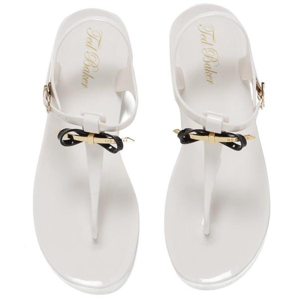 Ted Baker Women S Verona Bow Jelly Sandals Cream Black