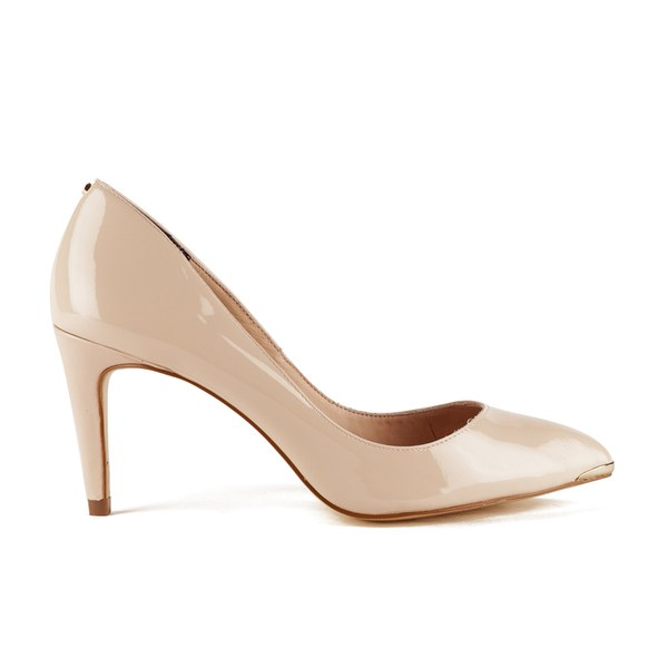 Ted Baker Women's Monirra Patent Leather Court Shoes - Nude: Image 1
