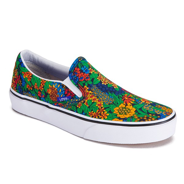 bc455fcdc9 Vans Women s Classic Slip-On Liberty Trainers - Multi Floral True White   Image