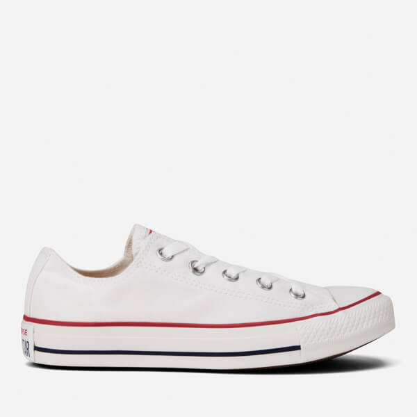 20e4af27bb3a7 Converse Chuck Taylor All Star Ox Canvas Trainers - Optical White  Image 1