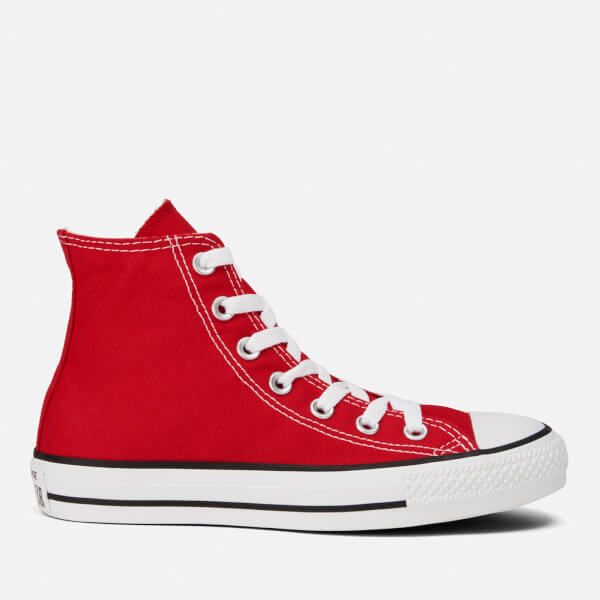 Converse All Star Canvas Hi-Top Trainers - Red Mens Footwear ... 6f8f68ec7