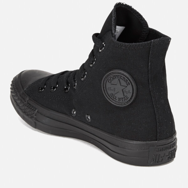 Converse All Star Canvas Hi-Top Trainers - Black Monochrome Mens ... 61297c9bf