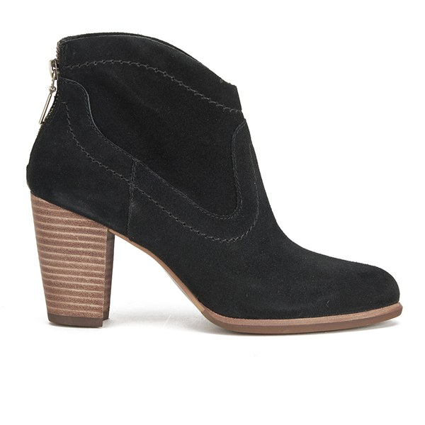 ugg s suede heeled ankle boots black