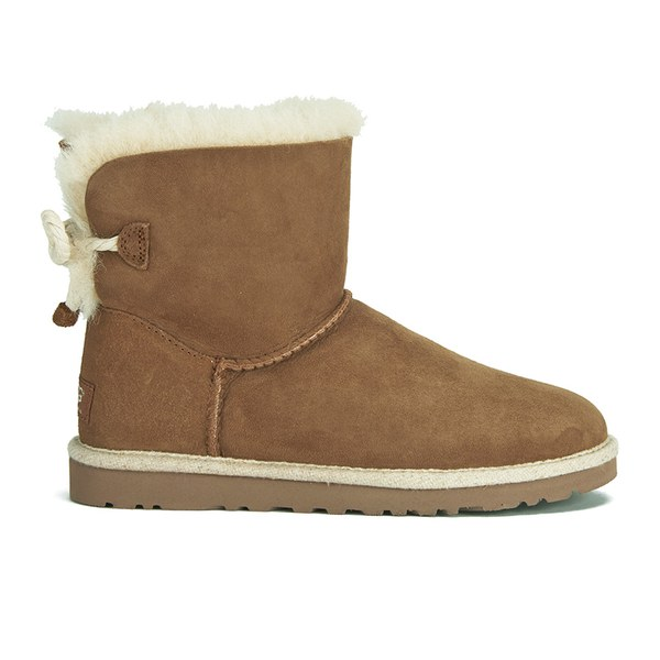 UGG Women's Selene Mini Sheepskin Boots - Chestnut
