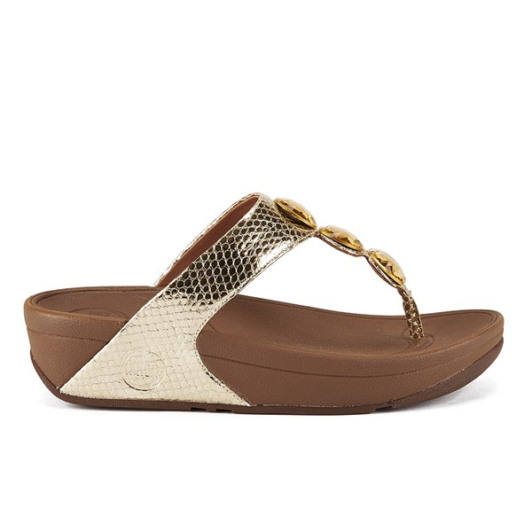 FitFlop Women's Petra Toe Post Sandals - Pale Gold: Image 1