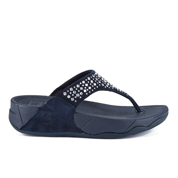195afe11057dc4 FitFlop Women s Novy Suede Toe Post Sandals - Super Navy Womens ...