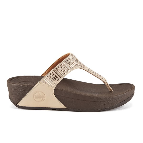 FitFlop Women's Aztec Chada Suede Toe Post Sandals - Rose Gold: Image 1
