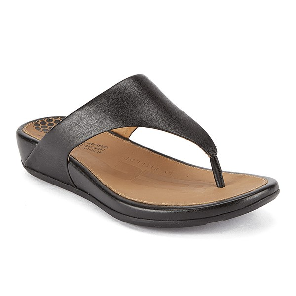 bfe5420d6460af FitFlop Women s Banda Leather Toe Post Sandals - Black Womens ...