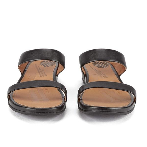 5d882a1ec3e3bb FitFlop Women s Banda Leather Slide Sandals - Black  Image 4