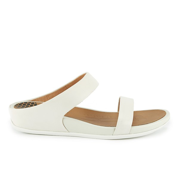 d3240f3bd FitFlop Women s Banda Leather Slide Sandals - Urban White  Image 1