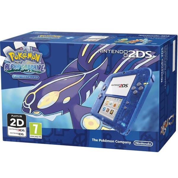 Nintendo 2ds Transparent Blue Pok 233 Mon Alpha Sapphire