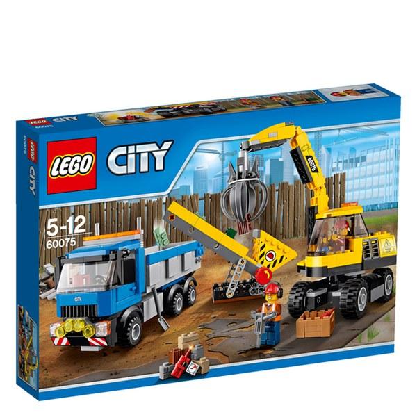 LEGO City: Excavator and Truck (60075) Toys | TheHut.com