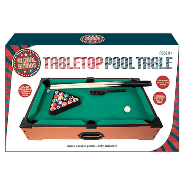 Table Top Pool Table Game Unique Gifts Zavvi - Pool table top only