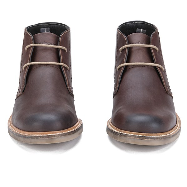 Barbour Men S Readhead Leather Chukka Boots Dark Brown Free Uk