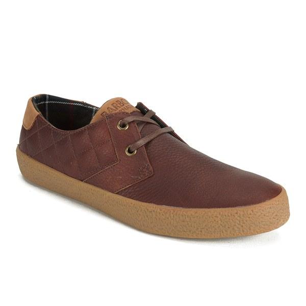 Barbour Men S Steve Mcqueen Randall Quilt Shoes Dark Tan