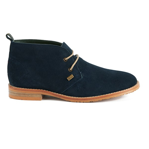 Barbour Women's Harwood Suede Desert Boots - Navy