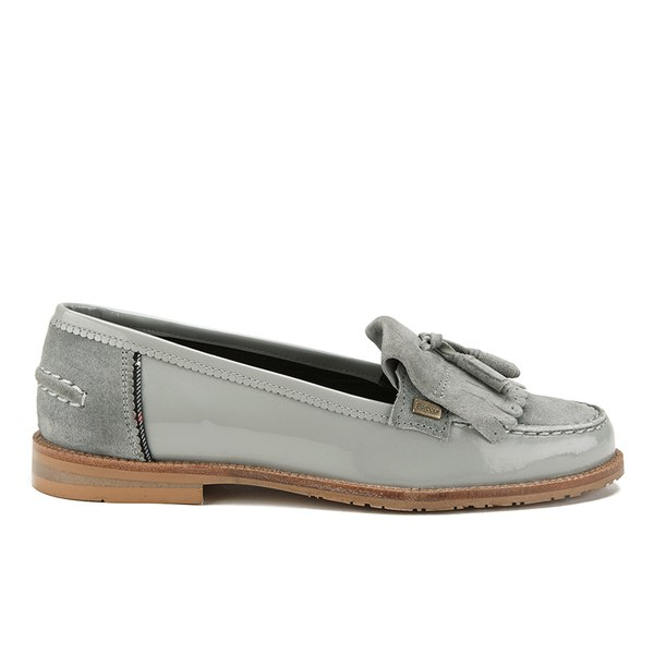 e233ce4e5fd Barbour Women s Amber Suede Tassel Loafers - Soft Grey  Image 1