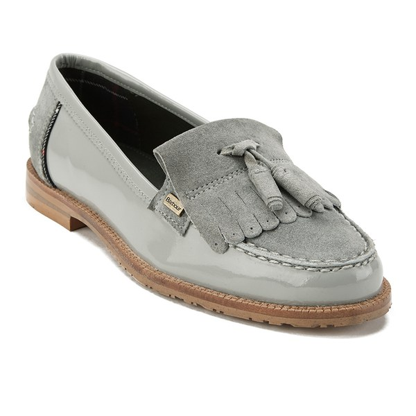 Barbour Women S Amber Suede Tassel Loafers Soft Grey