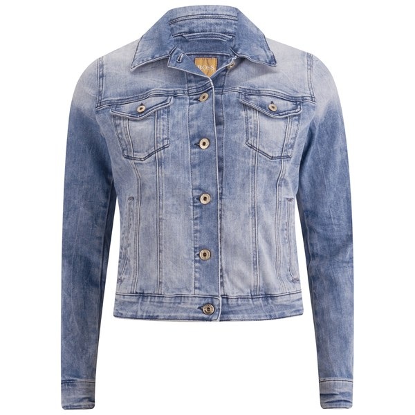 BOSS Orange Women's Louisya Denim Jacket - Acid Wash Womens ...