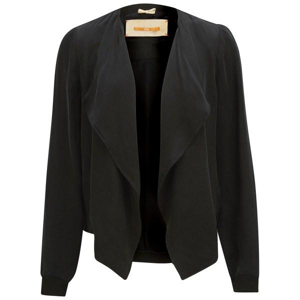 BOSS Orange Women's Oethna Drape Jacket - Black